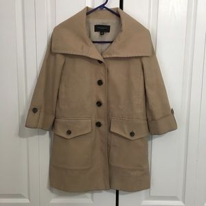 ANN TAYLOR tan coat/jacket